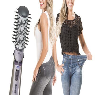 Imagem 2 do produto Escova Rotating Air Brush Titanium Conair + 2 Calças Modeladoras Lejeans - | 127v + lejeans preta + azul classica