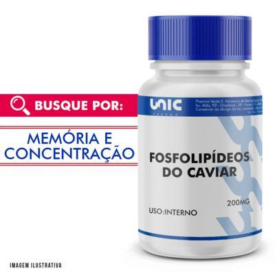 Fosfolipídeos do Caviar 200mg - 90 Cápsulas