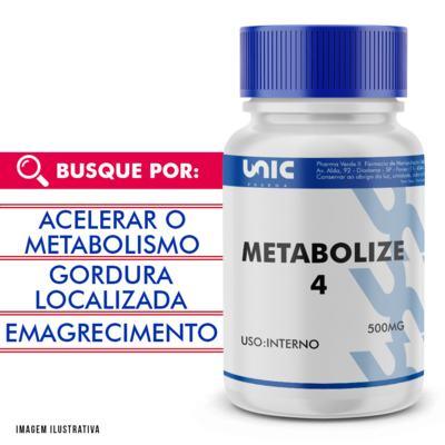Metabolize 4 500mg com selo de autenticidade - 90 Cápsulas