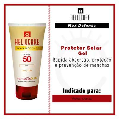 Imagem 3 do produto Heliocare Max Defense Gel FPS 50 Heliocare - Protetor Solar - Translucido