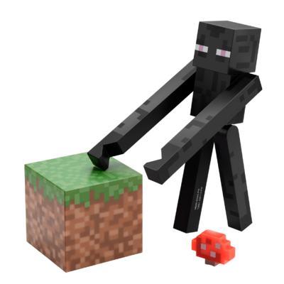 Imagem 1 do produto Boneco Enderman Minecraft Com Acessórios - BR144A - BR144A
