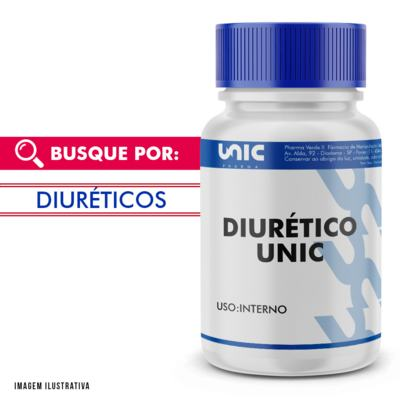 "Uva Ursi - Chá Verde - Cavalinha ""Diurético Unic"" - 120 Cápsulas"
