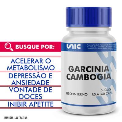 Garcinia cambogia 500mg - 120 Cápsulas