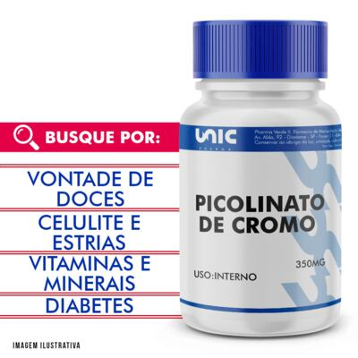 Imagem 1 do produto Picolinato de Cromo 350mcg - 90 Cápsulas