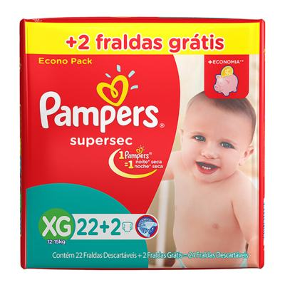 FRALDA PAMPERS SUPERSEC XG -