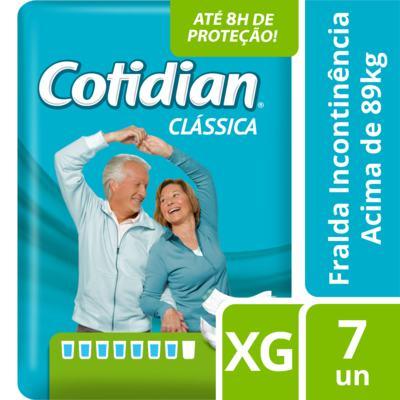 Imagem 1 do produto Fralda Geriátrica Cotidian Clássica XG 7 Unidades