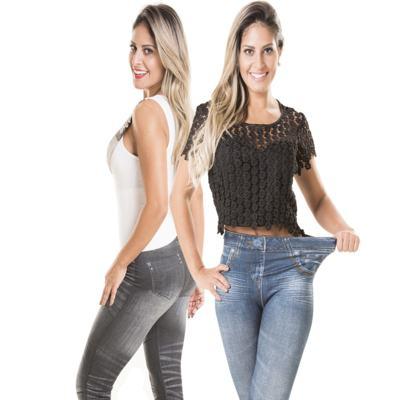 Imagem 1 do produto Calça Modeladora Lejeans - 2 Unidades - | Preto + Azul Clássico