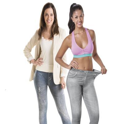 Imagem 1 do produto Calça Modeladora Lejeans - 2 Unidades - | CInza + Azul Despojada