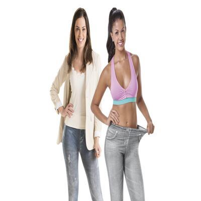 Imagem 2 do produto Calça Modeladora Lejeans - 2 Unidades - | CInza + Azul Despojada