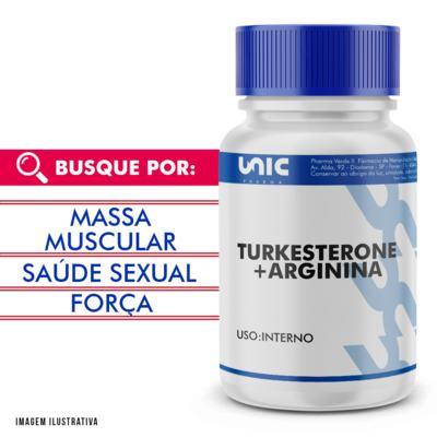 Turkesterone 500mg + Arginina 150mg - 120 Cápsulas