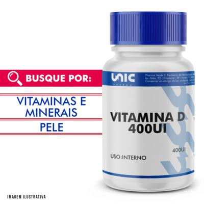 Vitamina d 400ui - 90 Cápsulas