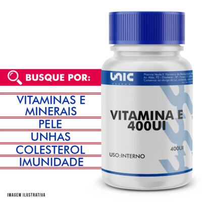 Imagem 1 do produto Vitamina e 400ui - 60 Cápsulas