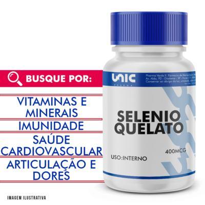 Selenio quelato 400mcg - 120 Cápsulas