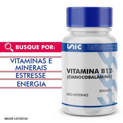 Vitamina b12 (cianocobalamina) 500mcg - 90 Cápsulas