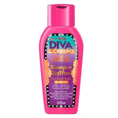 Imagem 2 do produto Diva de Crespo Soft Poo Niely - Shampoo + Condicionador + Creme para Pentear - Kit