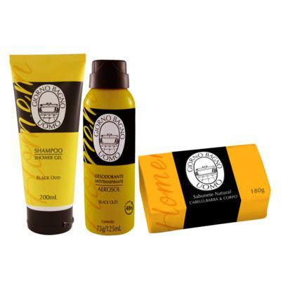 Imagem 2 do produto Giorno Uomo Black Oud Kit - Sabonete + Shampoo + Desodorante - Kit
