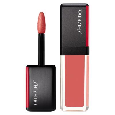 Batom Líquido Shiseido - LacquerInk LipShine - 312 Electro Peach