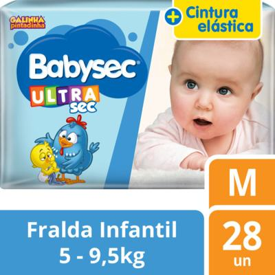 Imagem 2 do produto Fralda Babysec Galinha Pintadinha Ultrasec Jumbo M 28 unidades