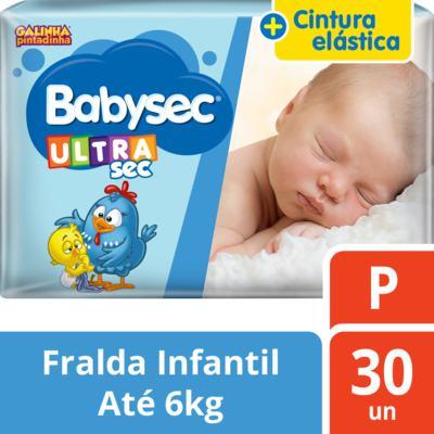 Imagem 2 do produto Fralda Babysec Galinha Pintadinha Ultrasec Jumbo P 30 unidades
