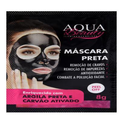 Imagem 1 do produto Máscara Facial Preta Aqua Beauty (3 sachês) -