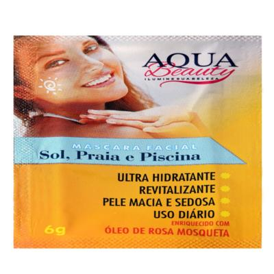 Imagem 2 do produto Máscara Facial Sol, Praia E Piscina Aqua Beauty (5 Sachês) -