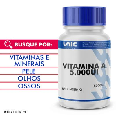 Vitamina a 5000ui - 120 Cápsulas