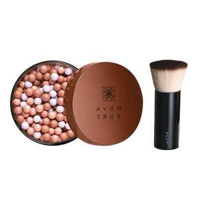 Kit Pérolas de Efeito Bronzeador Bronze Natural + Pincel Blush
