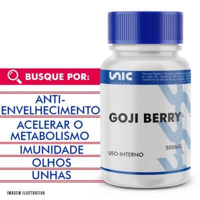 Imagem 1 do produto Goji berry 500mg - 90 Cápsulas