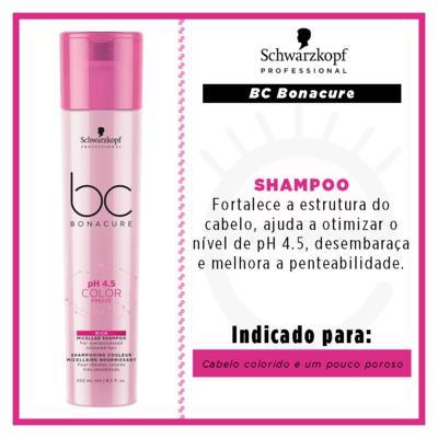 Imagem 2 do produto Shampoo Enriquecido BC pH 4.5 Color Freeze Micellar Schwarzkopf - 250ml