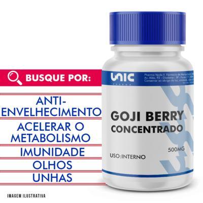 Goji berry 500mg concentrado - 120 Cápsulas