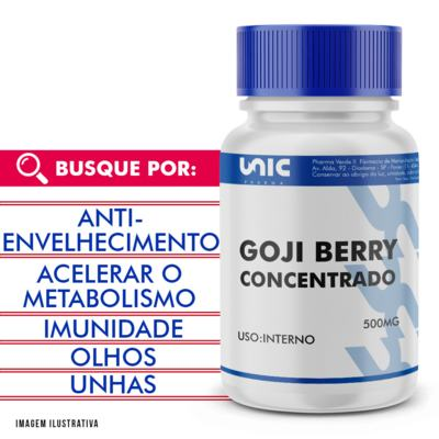 Goji berry 500mg concentrado - 90 Cápsulas