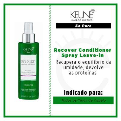 Imagem 2 do produto Keune So Pure Recover Conditioner Spray - Leave-in - 200ml