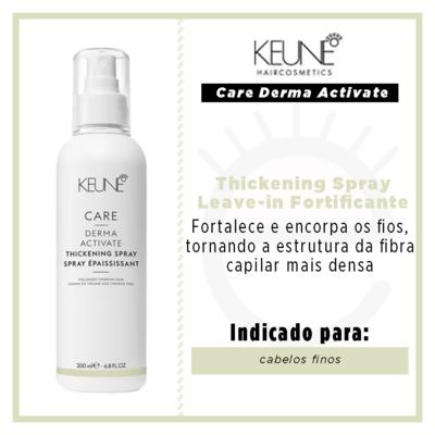 Imagem 2 do produto Keune Care Derma Activate Thickening Spray Leave-in Fortificante - 200ml