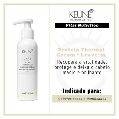Imagem 2 do produto Keune Vital Nutrition Protein Thermal Cream - Leave-in - 140ml