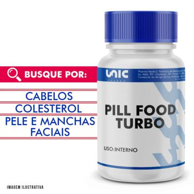 Pill food turbo - 120 Cápsulas
