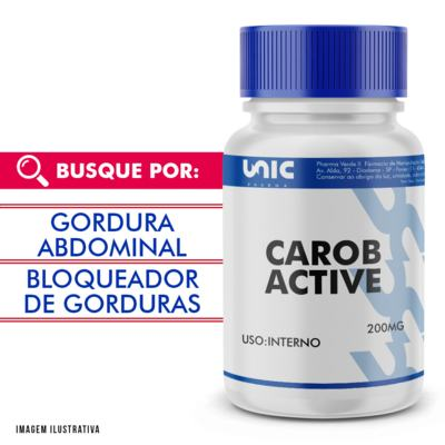 Carob Active 200mg - 30 Cápsulas