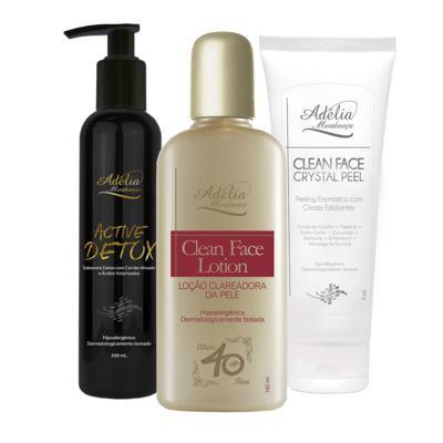 Imagem 1 do produto Kit Limpeza (Active Detox + Clean Face Lotion + Clean Face Crystal Peel) - 3 produtos