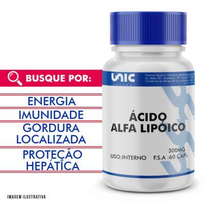 Imagem 1 do produto Ácido alfalipóico 300mg - 120 Cápsulas