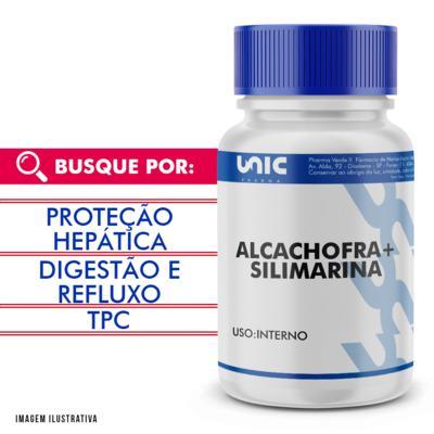 Imagem 1 do produto Protetor hepático natural - Alcachofra 300mg + Silimarina 50mg - 90 Cápsulas