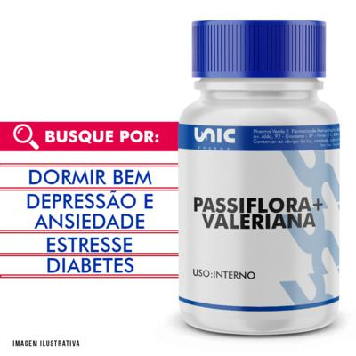 Imagem 1 do produto Passiflora + valeriana - 120 Cápsulas