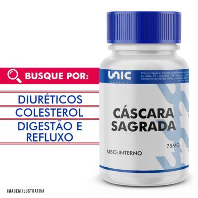 Imagem 1 do produto Cáscara Sagrada 75mg - 90 Cápsulas
