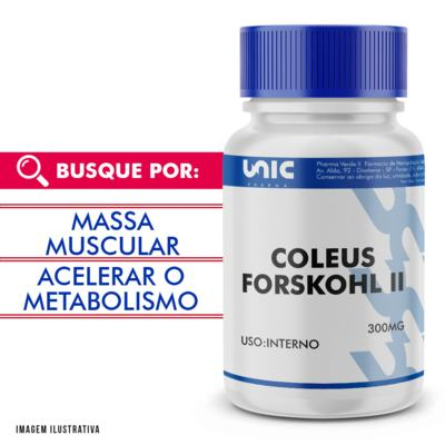 Imagem 1 do produto Coleus forskohlii 300mg - 120 Cápsulas