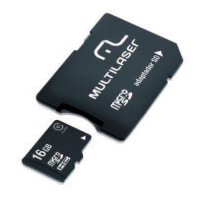 Adaptador Multilaser SD + Cartao de Memória Classe 10 16GB - MC110 - MC110