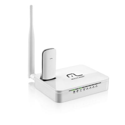 Roteador Wireless Multilaser 150 Mbps 3G 5Dbi Antena destacável - RE072 - RE072