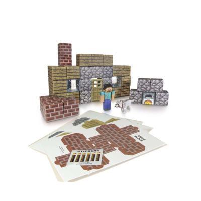Imagem 1 do produto Minecraft Over World Shelter Set Figuras Montáveis De Papel Adesivo Multikids - BR148 - BR148
