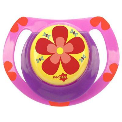 Imagem 1 do produto Chupeta Neopan Bico de Silicone Ortodôntica Tamanho 1 Flor Rosa Ref 4832