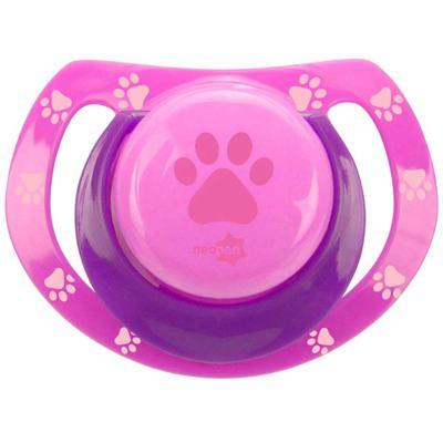 Imagem 1 do produto Chupeta Neopan Bico de Silicone Ortodôntica Tamanho 2 Patinha Rosa Ref 4843