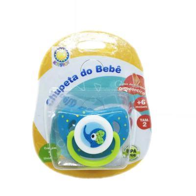 Imagem 1 do produto Chupeta Kitstar Ortodôntico Bichos 3D Leão/Elefante + 6 meses Tam 2