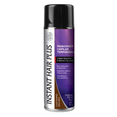 Imagem 1 do produto Maquiagem Capilar Temporária Instant Hair Plus - Castanho Escuro