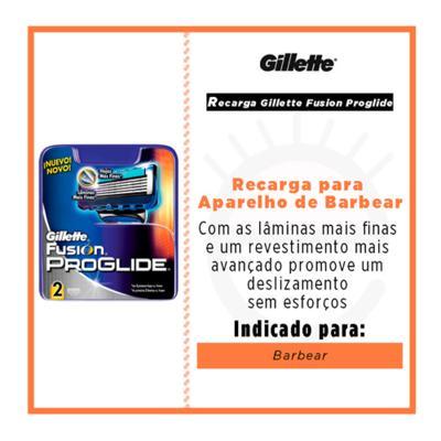 Imagem 2 do produto Gillette Fusion Proglide Recarga Gillette - Cartucho de Recarga - 2 Un